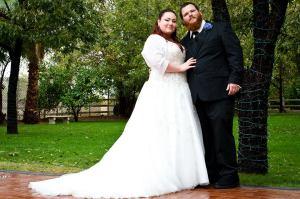 plus size tulle sparkle wedding dress
