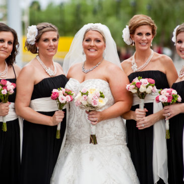 Sara's Sparkly Gown and Tre Bella Wedding