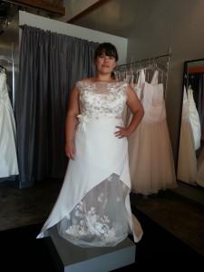 plus size beach wedding dress