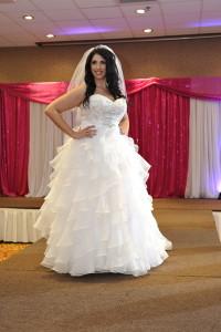 plus size ruffle wedding dress