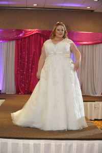 plus size wedding dress with straps