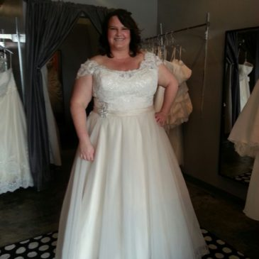 NEW DRESS ALERT: Plus Size Wedding Dress with Straps