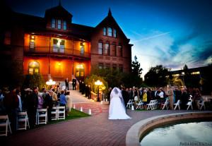 wedding Old Main ASU
