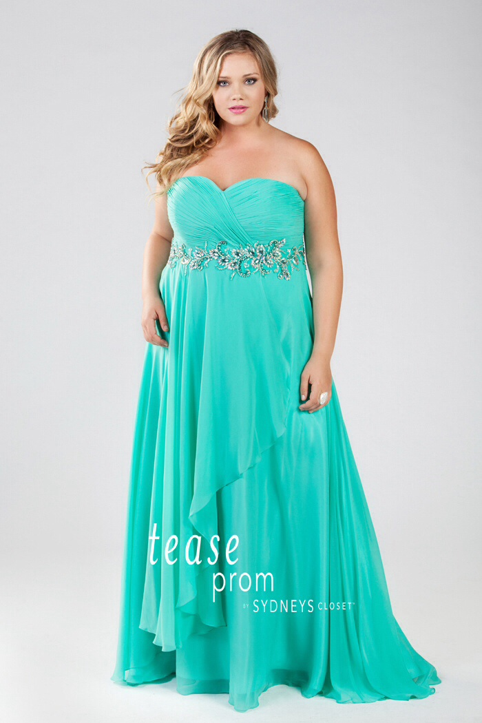 new design new high quality detailed images Under the Sea Theme Plus Size Prom Dresses