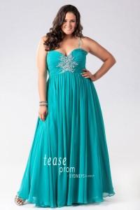 chiffon plus size prom dress