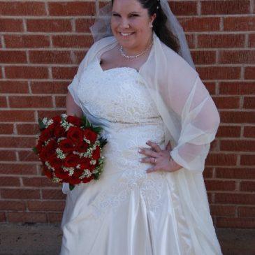 Strut Bride Heather T. in A-line Wedding Dress