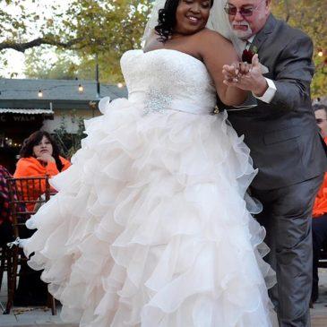 Krishunda's Ruffle Ballgown Wedding Dress + Rustic Venue