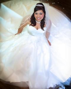 plus size lace ballgown wedding dress