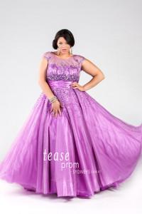 plus size prom dress straps illusion neckline