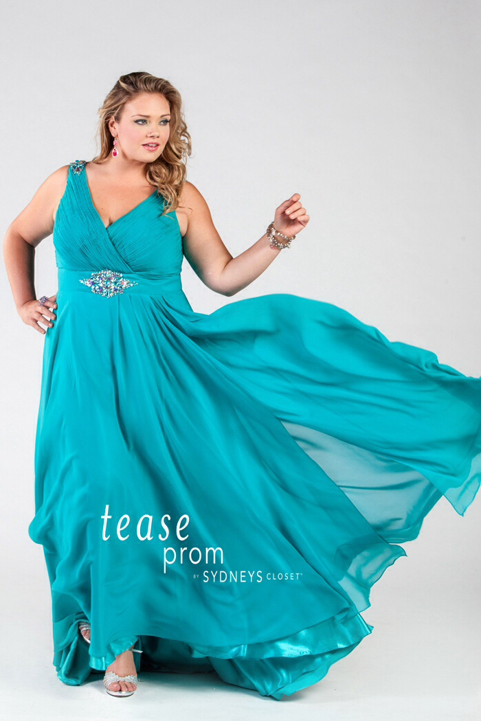 plus size prom dress with straps