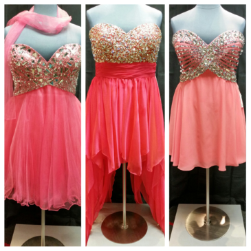 Short and Sassy Coral Plus Size Prom Dresses
