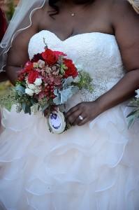 plus size ruffle ballgown wedding dress