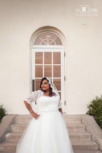 plus size tulle ballgown wedding dress