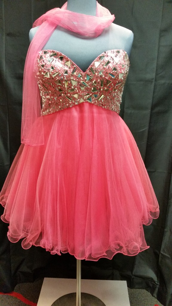Coral Colored Plus Size Prom Dresses