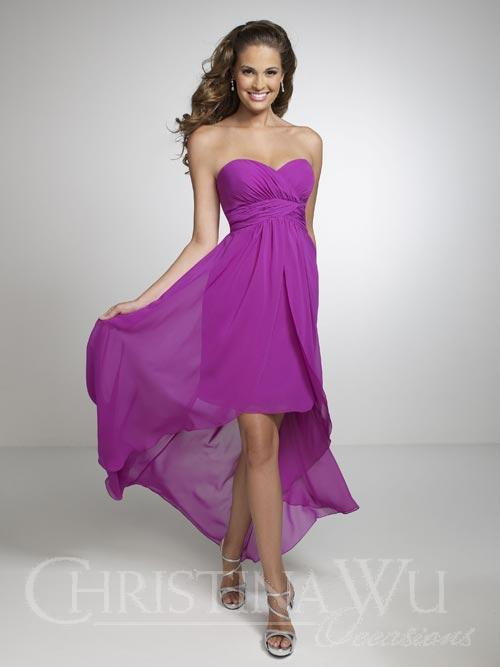 hi low bridesmaid dress