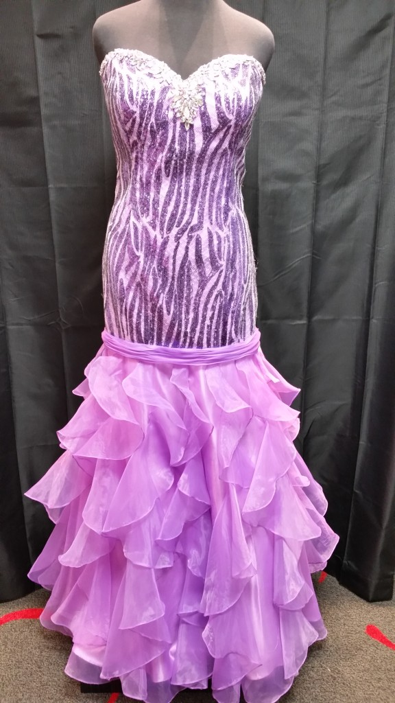 plus size ruffle prom dress