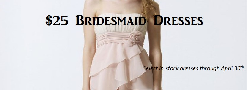 Plus Size Bridesmaid Dress Sale – $25