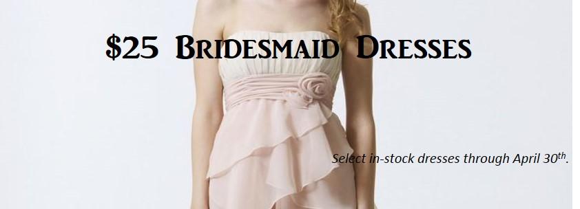 bridesmaid dress sale