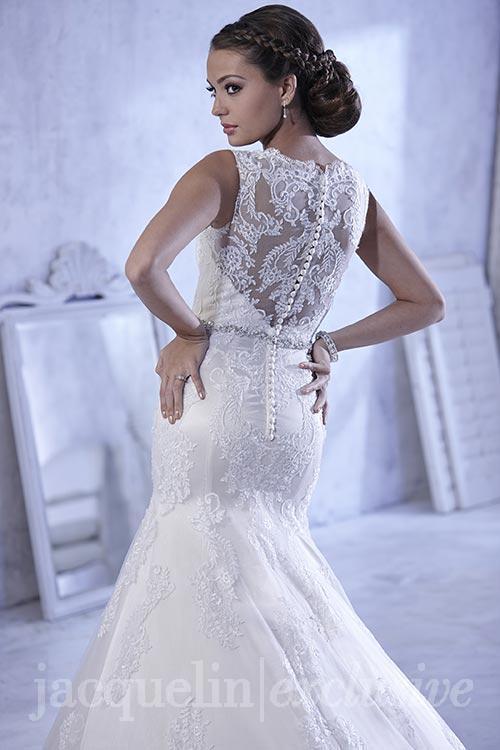 illusion neckline plus size wedding dress