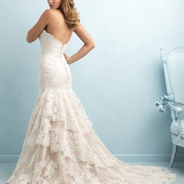 NEW DRESS ALERT: Champagne Lace Wedding Dress