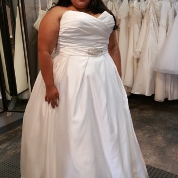 NEW DRESS ALERT: Satin Ballgown Wedding Dress with Pockets