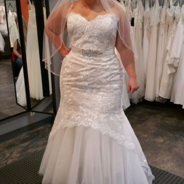 NEW DRESS ALERT: Plus Size Lace Mermaid Wedding Gown