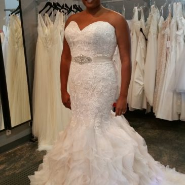 Mermaid Lace Ruffle Wedding Dress – Allure 9254