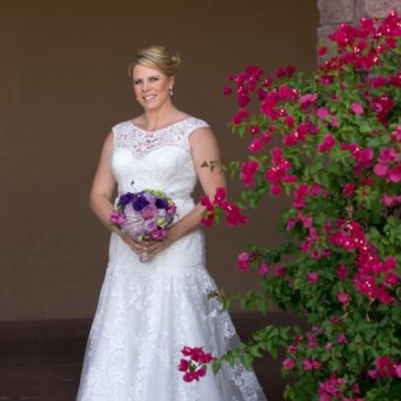 Jen's Lace Trumpet Wedding Gown with Illusion Neckline
