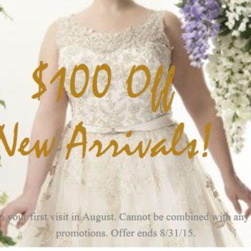 Sizzling Summer Savings on New Plus Size Wedding Dresses