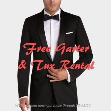 Free Tux and Garter Promo