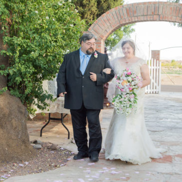 Bethany's Vintage Lace Wedding Gown