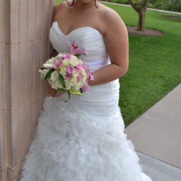 Nicoleh's Fitted Ruffled Wedding Gown