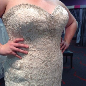 NEW DRESS ALERT: Plus Size Lace Mermaid Bridal Gown with Bling