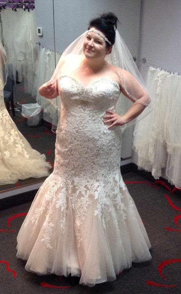 NEW DRESS ALERT: Plus Size Lace Mermaid Bridal Gown with ...