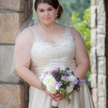Cassie's V-Neck Wedding Dress with Sleeves