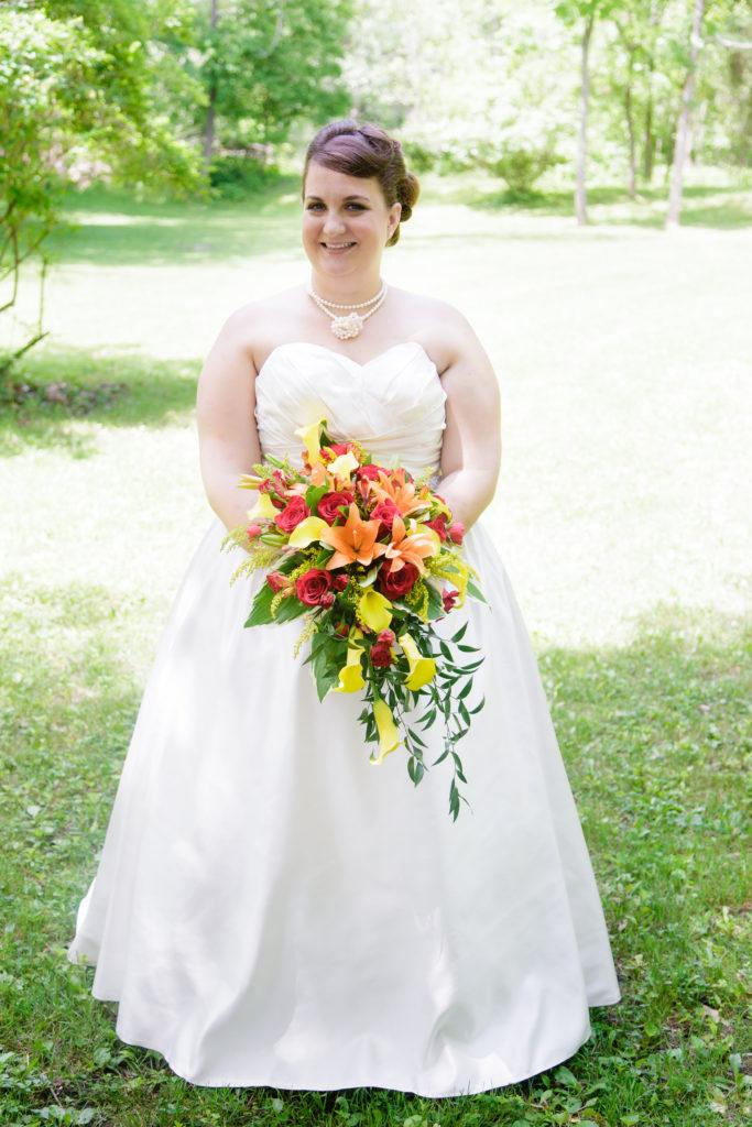 satin aline wedding dress