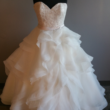 NEW DRESS ALERT: Ruffle Ballgown Wedding Dress