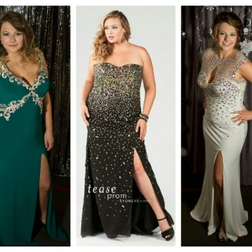Plus Size Prom Dresses with Slits