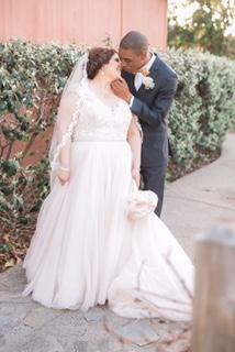 plus size cap sleeve wedding gown armany