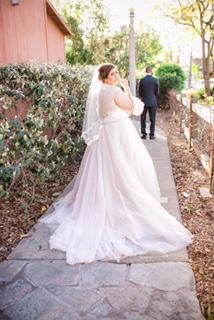 plus size champagne wedding dress armany