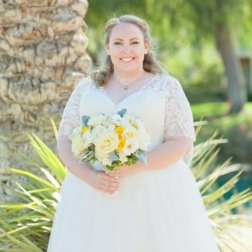 Melissa's Aline Wedding Dress with Sleeves