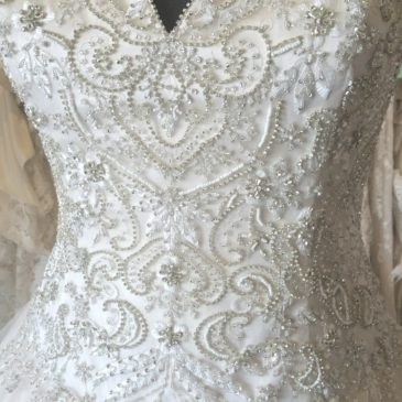 NEW! Champagne Ball Gown Wedding Dress