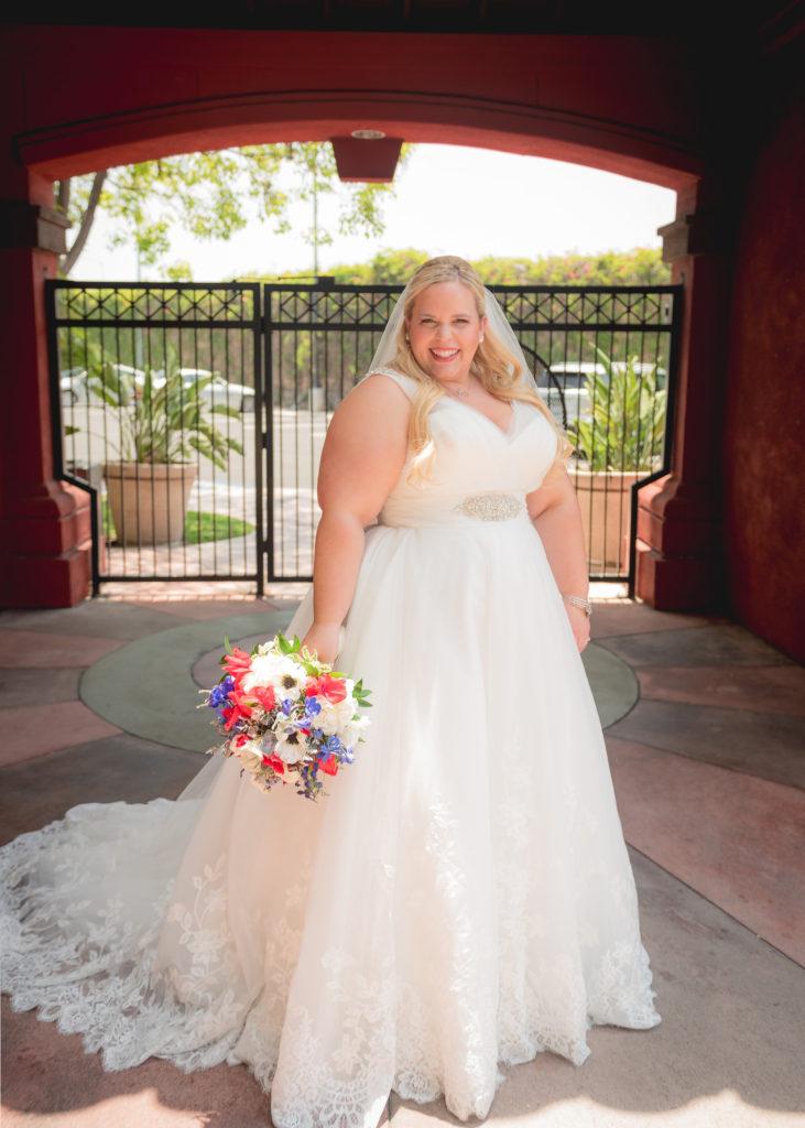 katrina plus size wedding dress with straps