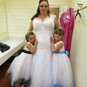 Cassie's V-neck Fitted Wedding Dress