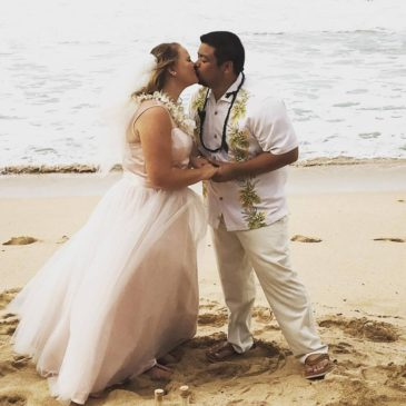Sara's Blush Beach Wedding Dress