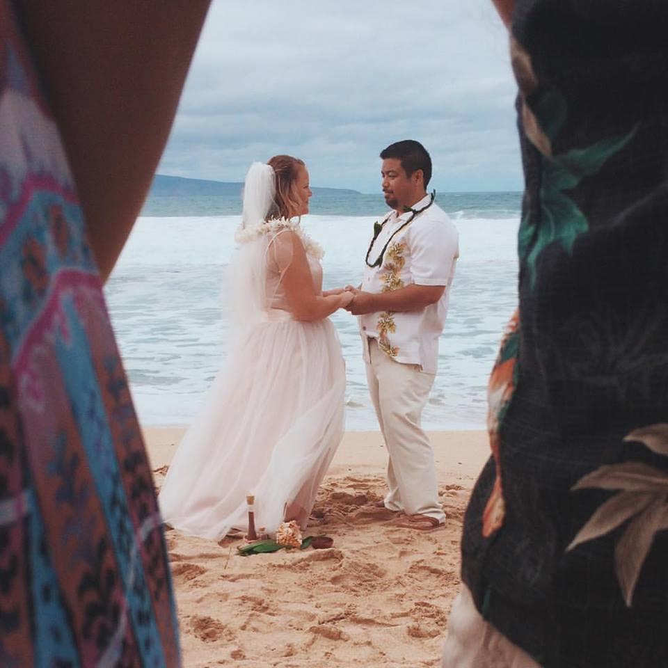sarah plus size beach wedding gown