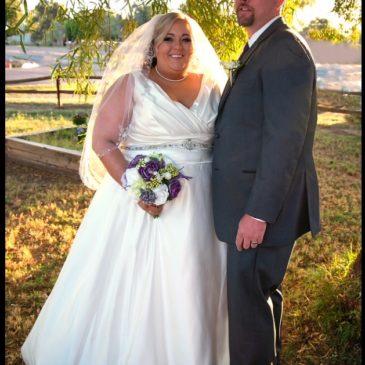 Erika's Satin V-Neck Wedding Gown