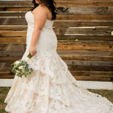 Nicole's Champagne Fitted Wedding Dress