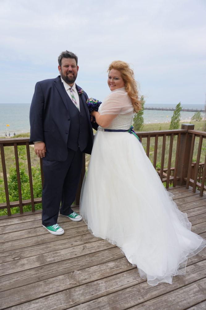 erikca-plus-size-wedding-on-lake-michigan - Strut Bridal Salon