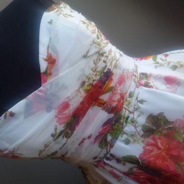 NEW: Floral Chiffon Wedding Dress